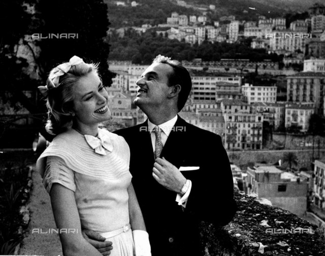 Prince Rainer of Monaco with Princess Grace 1956
