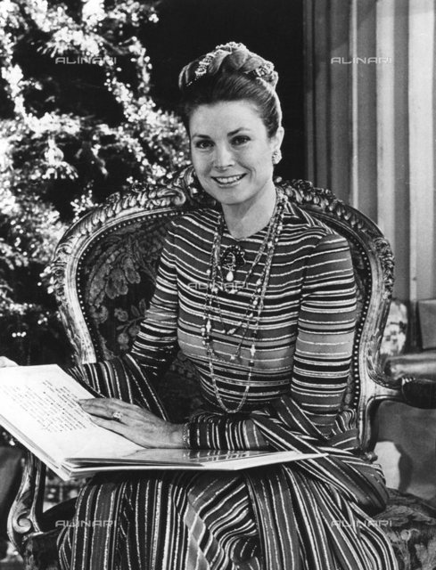 Princess of Monaco Grace Kelly (1929-1982), reads the story of the Nativity for Yorkshire Television