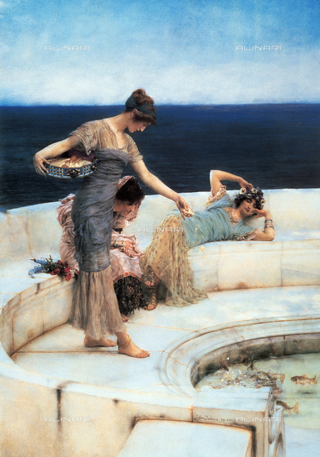 Silver Favourites, oil on canvas, 1903, Lawrence Alma-Tadema (1836-1912)