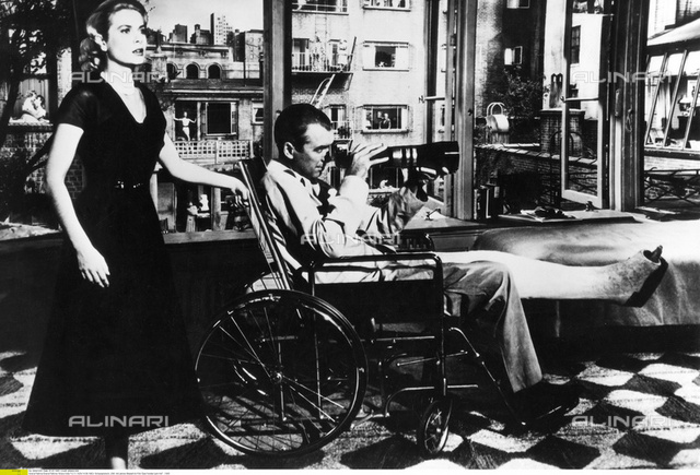 """Grace Kelly (1929-1982) with James Stewart in """"The window to the courtyard"""", 1955"""