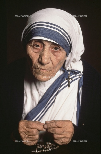 Portrait of Mother Teresa of Calcutta (1910-1997)