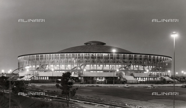 Sports Palace (PalaEUR), from 1958 to 1960, Pier Luigi Nervi (1891-1979) and Marcello Piacentini (1881-1960), District Eur, Rome