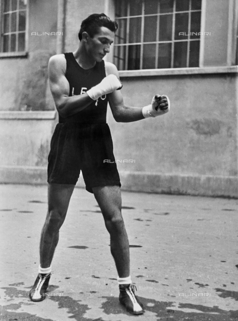 A fighter during training.