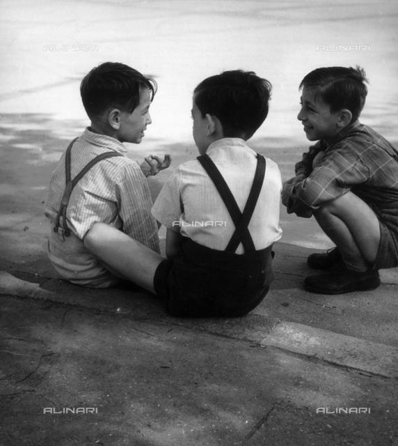 Group of children behind