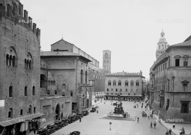 View of Nettuno Square, Bologna