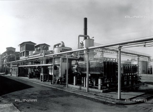 Exterior of part of the Snia di viscosa factory in Milan