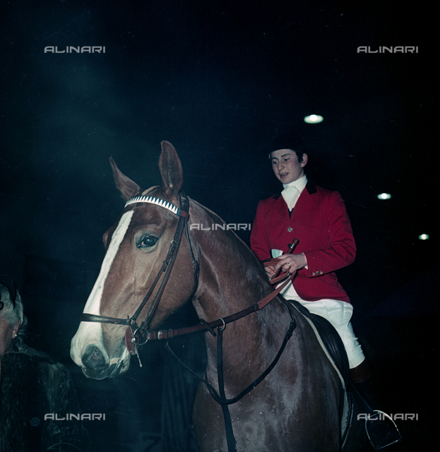 Indoor Horse GESE in San Lazzaro: jockey on horse