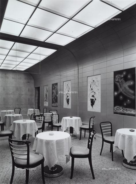 Inside of the bar Motta in Milan.