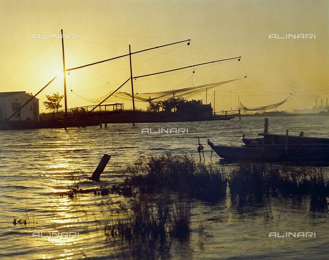 Trabocchi for fishing on the sea near Ravenna