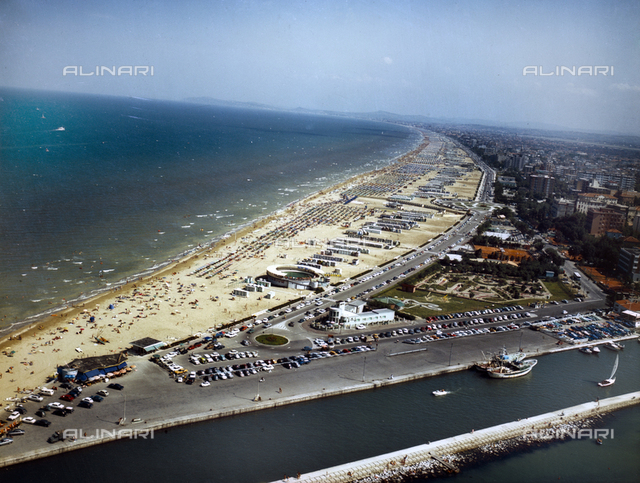 Aerial View of the Rimini Riviera, photography for the Company Living Riviera of Rimini