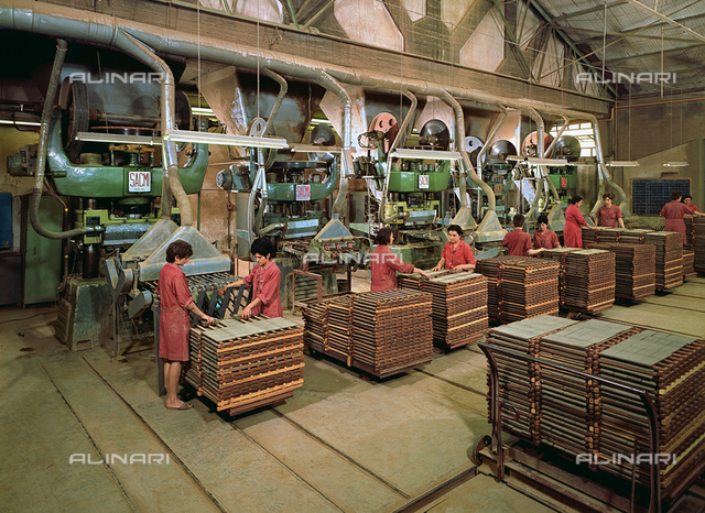 Tile production department in the Euroceramica factory