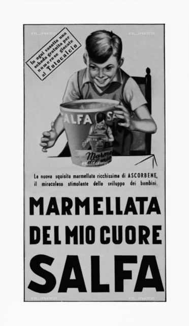 Publicity poster for the Salfa Company in Bologna