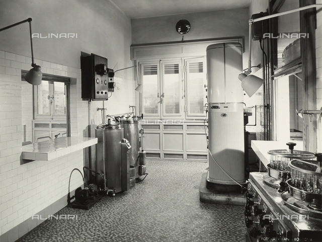 Inside of a chemical/pharmaceutical laboratory.