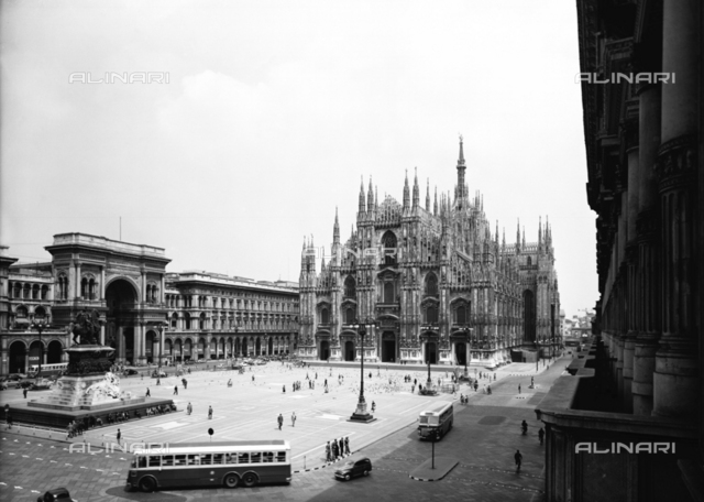 View of Piazza Duomo in Milan