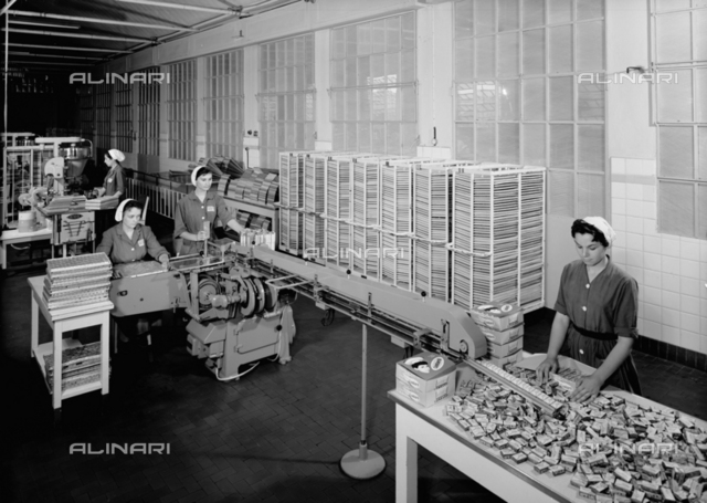 The packaging department at the Lombardi factory in Ferrara