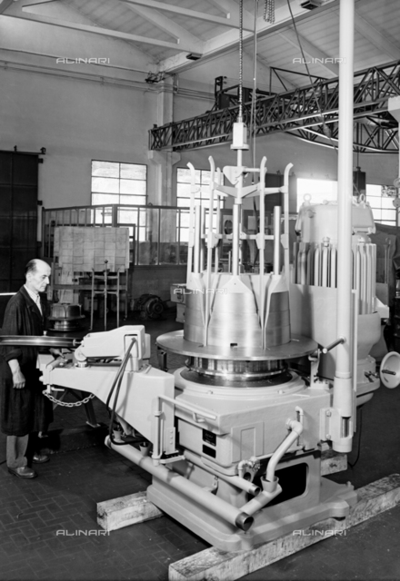 Machinery from the SAMP Precision Mechanics Company in Bologna