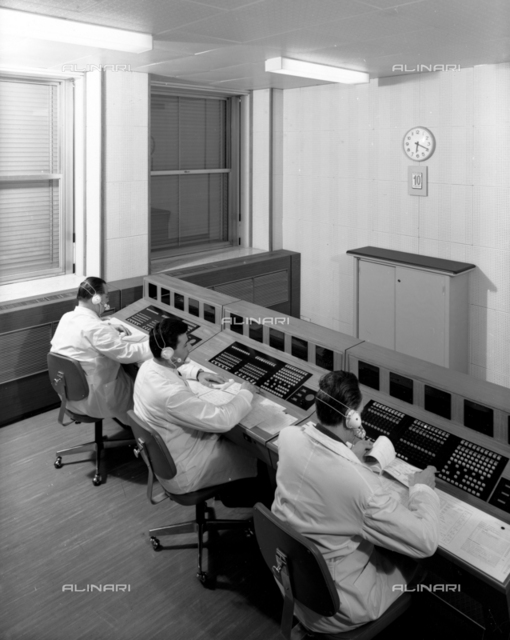 Workers of a control room at work