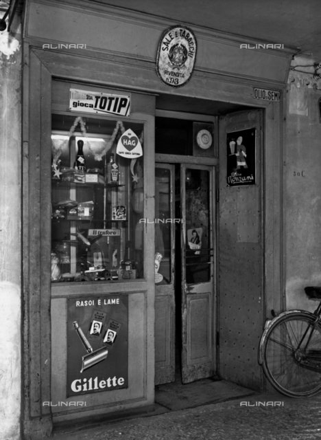 A shop of tobacco in Bologna