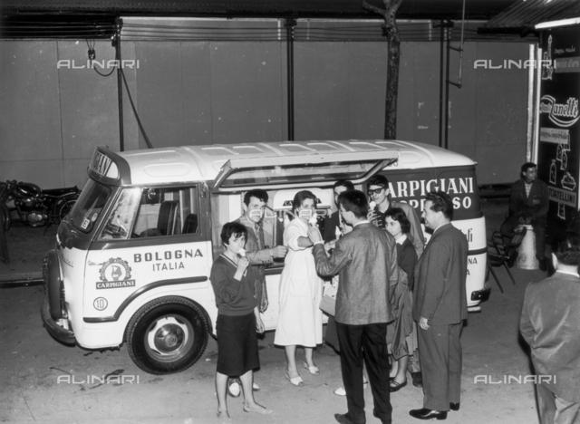 A Carpigiani machine for ice cream in a car