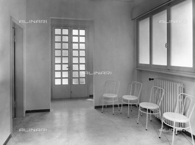 Italian Red Cross Boarding School for Professional Nurses; hospital waiting room