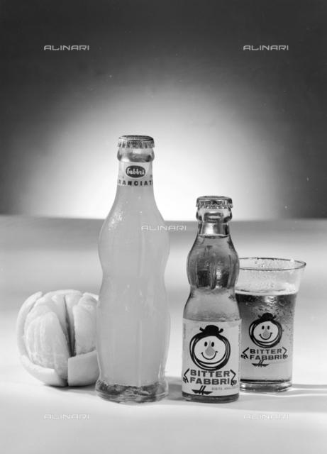 Distillery Fabbri: Fabbri Orangeade bottle and Bitter bottle, Bologna