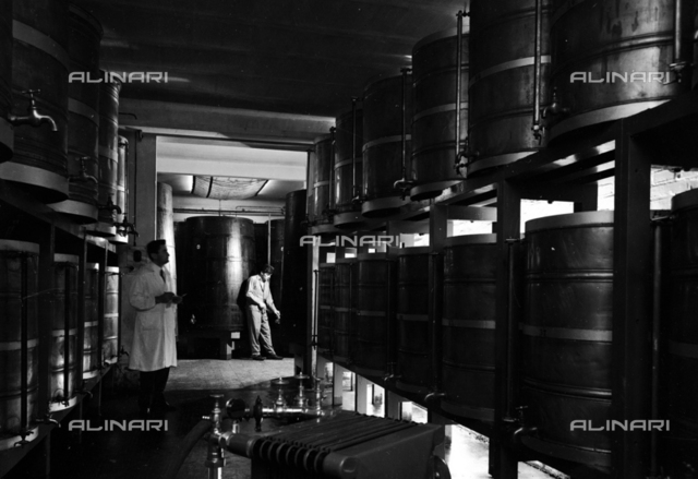 Distilleries Fabbri: interior of a plant with workers
