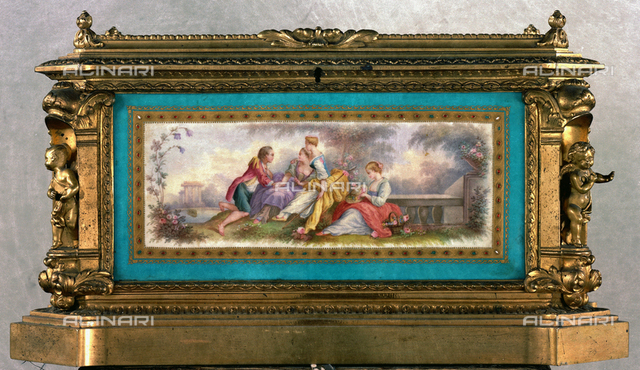 Hand-painted jewelry box, property of Buton