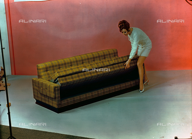 Model with a closed sofa bed