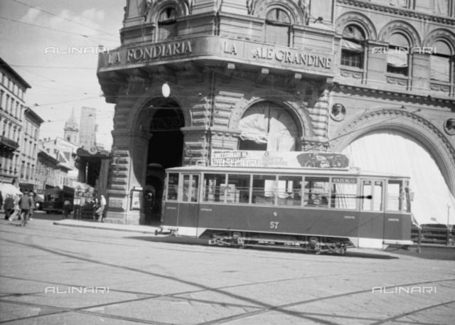 Publicity on tram, Bologna