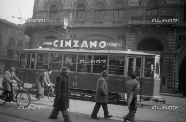 Cinzano Publicity on tram, Bologna