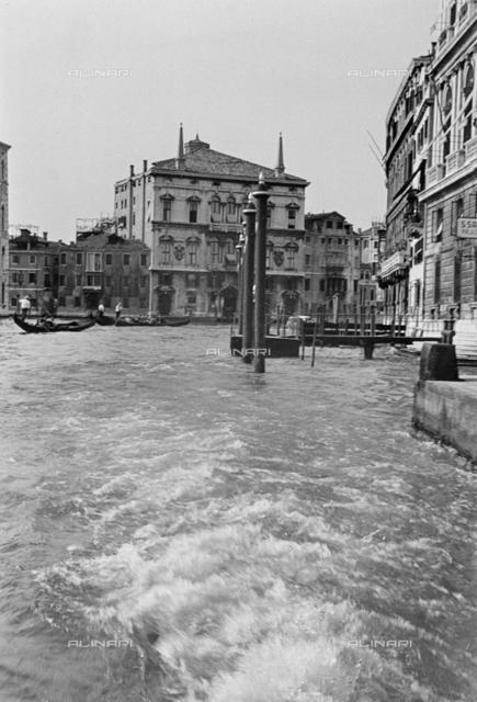 Gondolas in the Grand Canal, Venice
