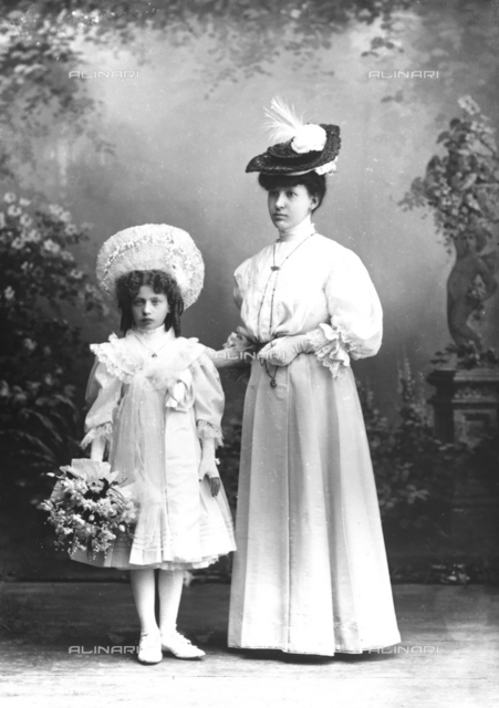 Angela Wulz with her step daughter