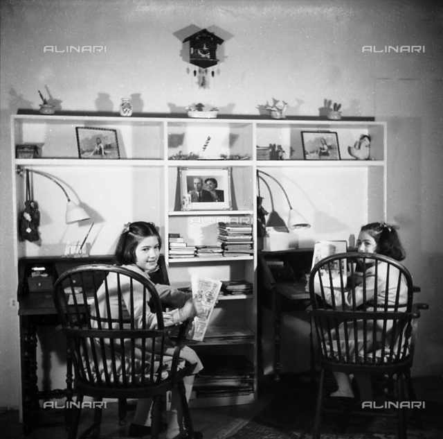 The Trakakis sisters in their room