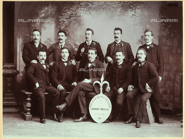 Group portrait of members of the Butcher's Society