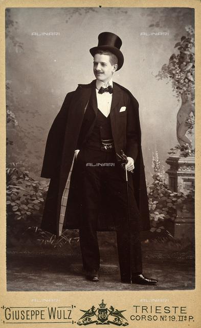 Portrait of Antonio Wulz in formal dress