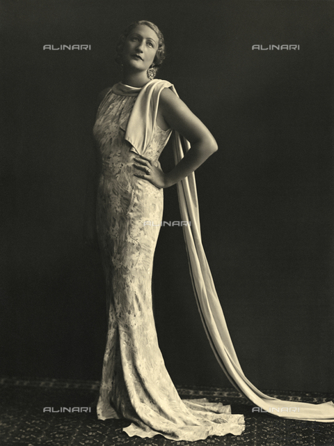 Portrait of a woman in evening dress