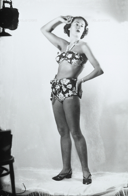 Young woman posing in a bathing suit