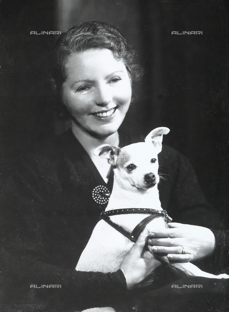 Close-up of a woman with a dog