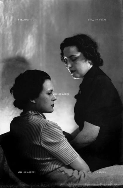 Wanda Wulz and Anita Pittoni