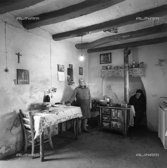 A kitchen interior in Friuli