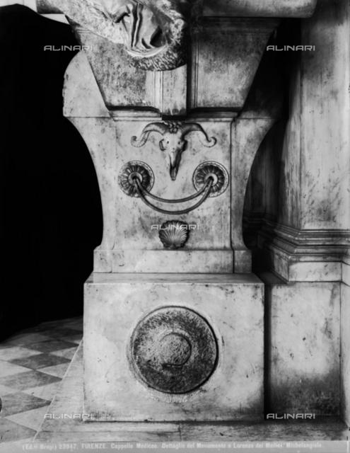Monument to Lorenzo de' Medici, New Sacristy, Medici Chapel, Basilica of San Lorenzo, Florence